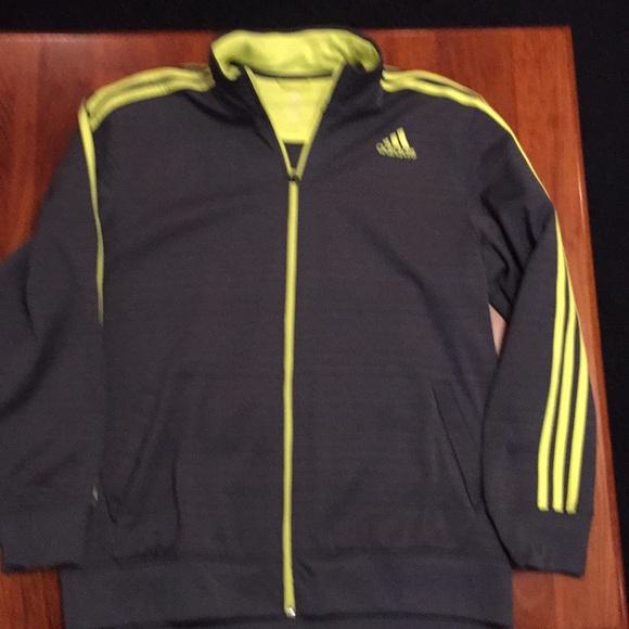 wholesale online 100% genuine outlet for sale Men's Grey Adidas Climalite Jacket XL